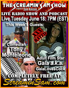 June 18, 2013 Banner with Gaia Loves Cock and Tony Monteleone